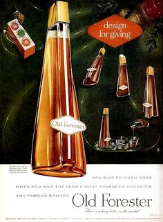 Old Forester Straight Bourbon Whisky — 1956
