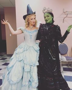 Caroline and Kara my 2 favorite Broadway Wicked, Wicked Musical, Broadway Theatre, Musical Theatre, Glinda The Good Witch, Fairytale Fashion, Defying Gravity, Theatre Geek, Theatre Costumes