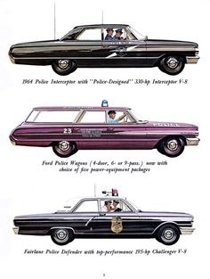 1964 Ford cruiser squadcar patrol car police car squad car