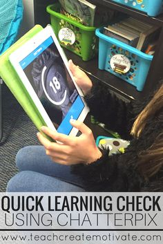 Use ChatterPix to check your students learning quickly and easily! Such a FUN and easy app to use. Teaching Technology, Technology Integration, Educational Technology, 21st Century Classroom, 21st Century Learning, Project Based Learning, Student Learning, Flipped Classroom, Classroom Ideas