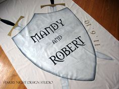 Medieval name wedding banner
