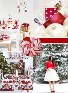 Christmas Board: Red and White
