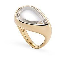 Anel de ouro amarelo 18K com cristal de rocha - Coleção DVF Link:http://www.hstern.com.br/joias/p-produto/A2Q196726/anel/dvf/anel-de-ouro-amarelo-18k-com-cristal-de-rocha---colecao-dvf