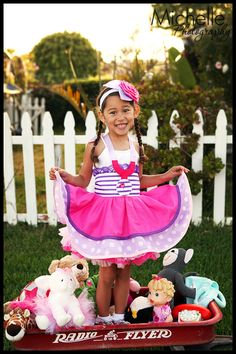 Doc McSuffins Inspired Dress Up Costume Apron...Half Apron style. $60.00, via Etsy.