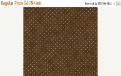 Back To School Sale Moda Essential Dots Chocolate Brown 8654 45