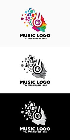 Logo Template Features AI and EPS (Illustrator 10 EPS) CMYK Scalable Vector Files Easy to edit color / text Ready to print Font information at the Music Logo Inspiration, Logo Design Inspiration, Best Logo Design, Graphic Design, Vector Logos, Print Fonts, Text Color, Logo Templates, Good Music