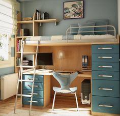 Radni Sto Za Decu U Malom Prostoru Bedroom Loft, Girls Bedroom, Bedroom  Decor,