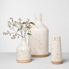 Vase Speckled - Hearth & Hand™ With Magnolia : Target *This is an affiliate link. I may receive a commission if you purchase this item. Pottery Painting, Pottery Vase, Farmhouse Vases, Modern Farmhouse, Decor Logo, Home Decor Signs, Vases Decor, Decorating With Vases, Decorating Tips