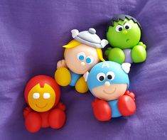 Polymer Clay Projects, Polymer Clay Art, Avenger Cake, Nerd Crafts, Pencil Toppers, Cute Cupcakes, Pasta Flexible, Superhero Party, Clay Tutorials