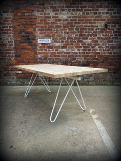 Modern Industrial Chic Mantes Dining Table in White. This beautiful item has been finished in a Blanco White to bring you a truly new look and design.