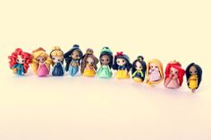 Polymer clay Disney Princesses by Candy Designs.