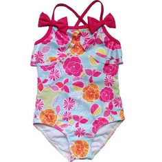 Pudcoco 2019 Brand Summer Kids Baby Girl Bikini Suit Bowknot Flamingo Swimwear Beachwear Swimming 1-6y Reliable Performance Swimwear
