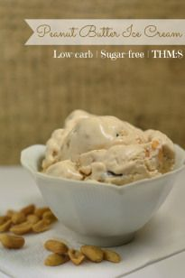 Peanut Butter Ice Cream {Low-carb, Sugar-free, THM:S}  This looks so yummy!