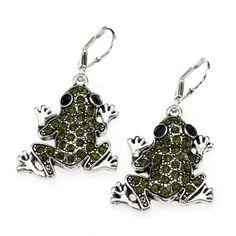 Frog Earrings - sterling silver earrings