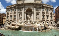 Fontana di Trevi -- Trevi Fountain in Rome!