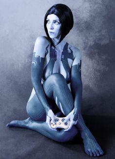 Cortana, Halo 4 (portrayed by Alzbeta Trojanova) Cortana Cosplay, Halo Cosplay, Best Cosplay, Amazing Cosplay, Cortana Halo, Halo Game, Drawn Art, Cosplay Girls, Cosplay Costumes