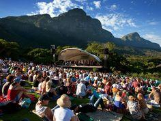 Summer concert at Kirstenbosch Botanical Garden. Stunning picnic spot.