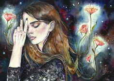 Watercolor Portraits by Lesya Poplavskaya #artpeople