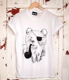 Our first ever bear design we printed. 'Pirate Bear'......  www.dontfeedthebears.co.uk #pirate #piratebear #bears #beartshirt #eyepatch #pipe