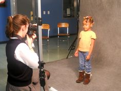 The students were transforming into photographers and the guests were transforming into models!