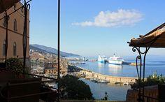 Von der Festung aufs Meer vor Bastia
