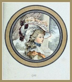 Hats by Madame Bertin  (Milliner to Marie Antoinette & the French Court) 1784