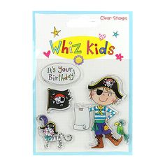 Whiz Kids by Rachel Ellen Card Craft Decorative Embellishment Plastic Buttons