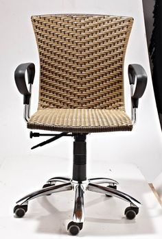 Rattan office chair from Guyana.