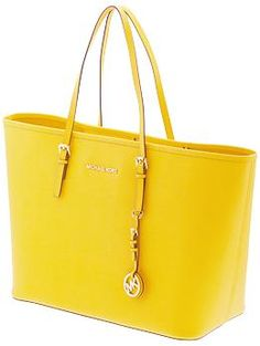 Yellow is the colour of the season!MICHAEL Michael Kors Jet Set Travel Medium Tote | Piperlime