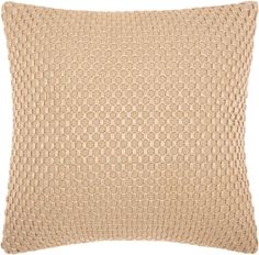 Mina Victory Woven Luster Tapis Beige Throw Pillow