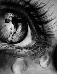 Tears of happiness by leeartstudio on deviantart realisztikus rajzok, ceruz Dark Art Drawings, Pencil Art Drawings, Art Drawings Sketches, Crying Eyes, Tears In Eyes, Tears Art, Eyes Artwork, Bild Tattoos, Eye Photography