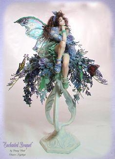One of a Kind, Original Art Dolls and Fairies by artist, Penny Waid Unicorn And Fairies, Elves And Fairies, Unicorns And Mermaids, Kobold, Fairy Pictures, Fairy Figurines, Realistic Dolls, Love Fairy, Beautiful Fairies