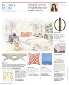 Instant Room from House Beautiful Magazine Pillow Drawing, Cottage Living Rooms, Study Materials, Design Reference, Beautiful Homes, House Beautiful, Designs To Draw, Throw Pillows, Interior Design