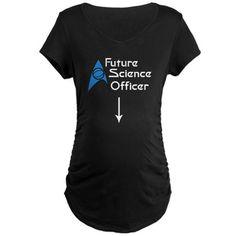 Future Science Officer Maternity Dark T-Shirt