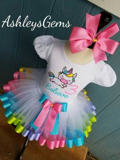 Unicorn BirthdayOutfit, Unicorn Tutu, Unicorn Shirt, Unicorn Party, Unicorn Tutu Dress, Rainbow Unicorn, Baby Unicorn Outfit, Unicorn Dress