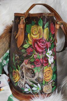 3665554b3c9 19 Best Custom Hand painted Louis Vuitton   Goyard Handbags images ...