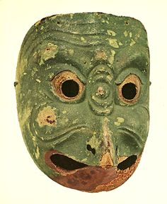 "A mask of Japanese Bugaku. ""Korobase"". 1185. Heian era."