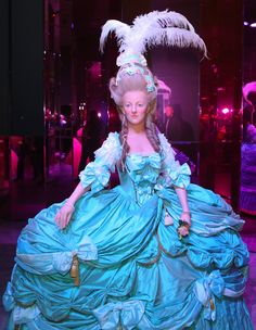 Wax figure of Marie Antoinette, located at the Musée Grévin in Paris, France.
