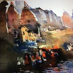 #Indian #watercolour #artist Nitin Singh online art gallery