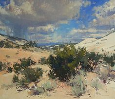 Sandstone, Cedar, Sage and Sky by Jill Carver Oil ~ 26 x 30