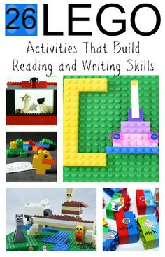 The Ultimate Pinterest Party, Week 109 26 hands-on Lego activities that build  reading and writing skills!