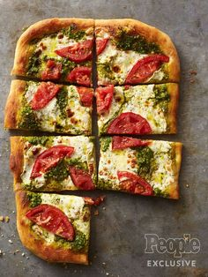 Candice Kumai's Caprese PestoPizza