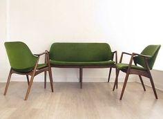 1950s DANISH SOFA SETTEE & 2 CHAIRS SUITE heals retro 50s 60s ib Kofod larsen