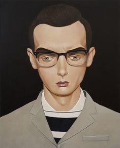 Harold Child, 2012 Acrylic on linen 39.4 x 31.5 inches
