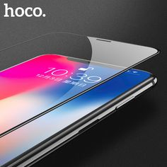 Compare Price HOCO for Apple iPhone X Tempered Glass Film Screen Protector Protective Full Cover for Touch Screen Protection for iPhone 10