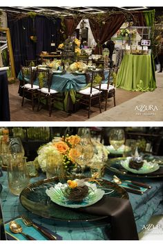 Love this palette! The brighter greens and lighter blues against the navy blue and chocolate are gorgeous!