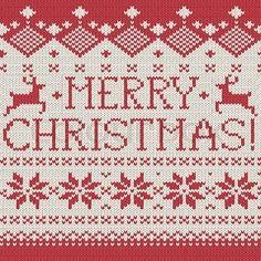 Merry Christmas Knitting Chart
