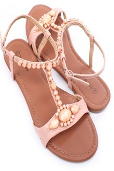 BLUSH FAUX LEATHER FACETED GEMSTONE T-STRAP SANDALS,$21.99 #WomensSandals #CuteSandals #SexySandals #CheapFlatSandal #spring #springcollection #cute #fun #2014 #springtime #springfling #springfun #2014spring #springbreak #springfun #funinthesun #fashionshoes