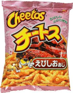 FritoLay Cheetos — Grilled Prawn $2.00 http://thingsfromjapan.net/fritolay-cheetos-grilled-prawn/ #Japanese fritolay #Japanese cheetos #Japanese snack