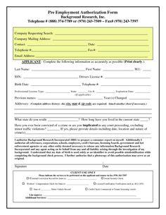 Pre Employment Screening Test Sample Background checks save ...